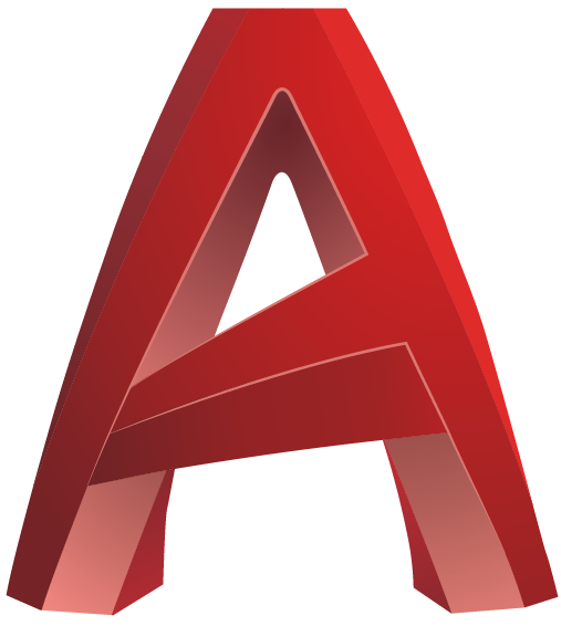 A red capital letter A representing the AutoCAD logo.