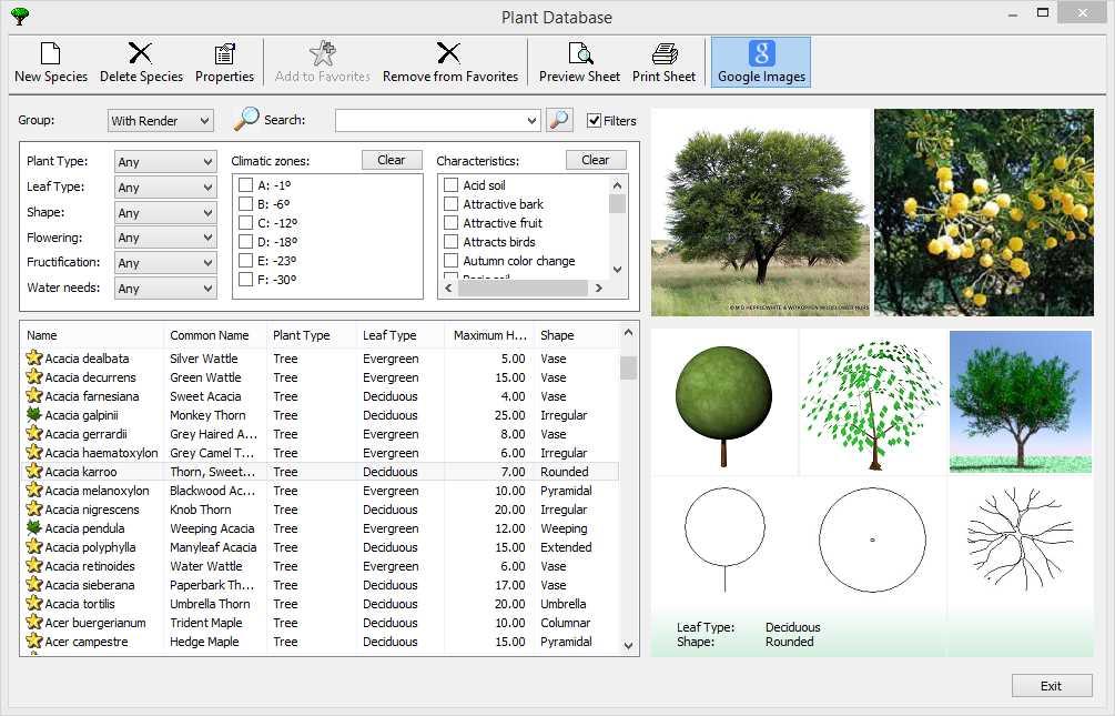 Base de données de plantes 0