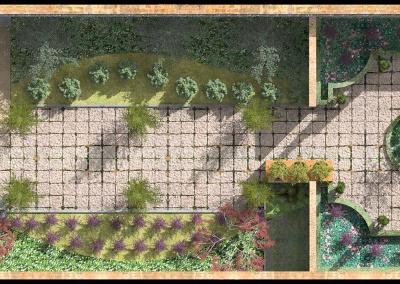 Jardín con parterre