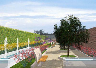 Jardín rectangular