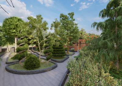 Projet de jardin éducatif pour enfants du quartier de Niavaran à Téhéran. Le jardin éducatif est conçu pour les enfants de tous âges afin de les aider à communiquer entre eux. Auteur : Anahita Farid (Architecte paysager) Modèle : Rhino + Lands Design Rendu : Lumion 10.3