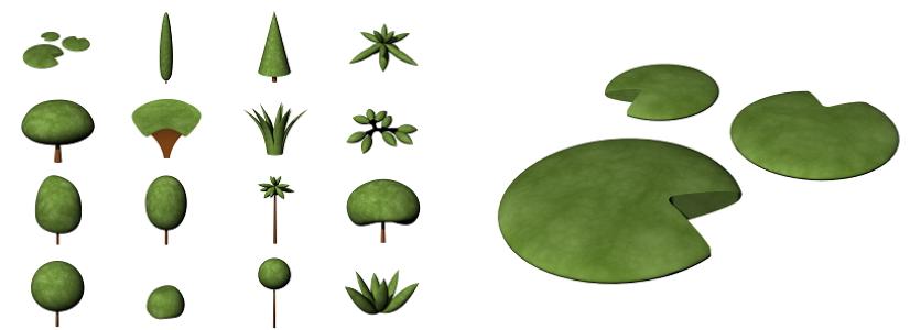 Rappresentazione concettuale delle piante di Lands