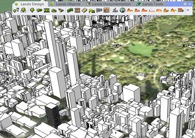 Importar edificios 3D con Lands Design