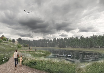 The project is located the eastern part of Denmark in a small city. The goal behind the project is to solve the huge amount of rainwater falling in relation to climate change. By using terrain modeling a rainwater reservoir fits into the current landscape and creates a new recreational area for the citizens. All the […]
