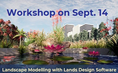 Our next online workshop on Lands Design will be held on September 14th. It covers the main functions and characteristics of the program. The workshop is two hours long and runs on the Rhino version. Here are the details: Title: Landscape Modelling with Lands Design Software Date: September 14 at 10:00 am US Central Time […]