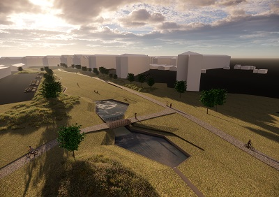 The project is located in middle of Jutland, Denmark. In the project Labland studio has worked with the terrain to solve the challenge of flooding rainwater management in the city. By changing the park from a flat landscape to a more wavy and hilly landscape they created a suitable space for the rainwater. And at […]